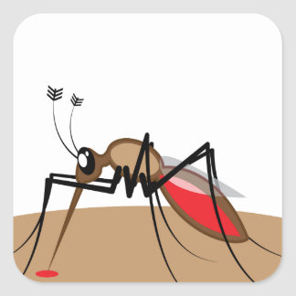 Blood sucking Insect Square Sticker