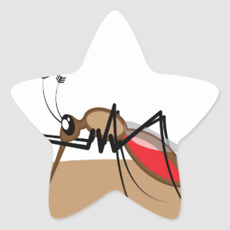 Blood sucking Insect Star Sticker