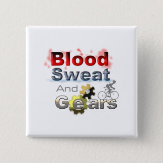 blood sweat and gears 15 cm square badge
