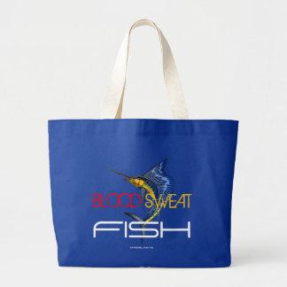 BLOOD SWEAT FISH JUMBO TOTE BAG