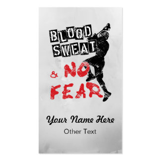 Blood Sweat No Fear Lacrosse Custom Business Cards