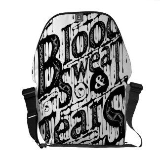 Blood, Sweat, & Tears - Messenger Bag (White)