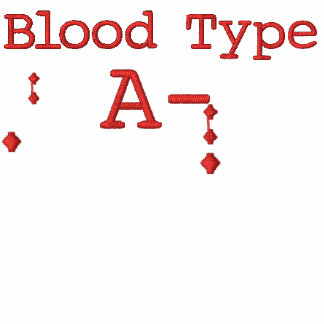 Blood Type A- Embroidered Hoodie