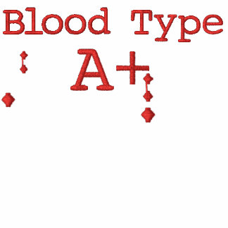 Blood Type A+ Embroidered Hoodie