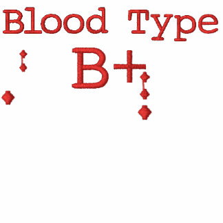 Blood Type B+ Embroidered Hoodie