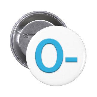 Blood Type O Rh Negative Button