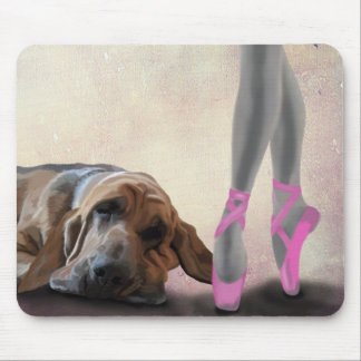 Bloodhound And Ballet Dancer Mouse Pad