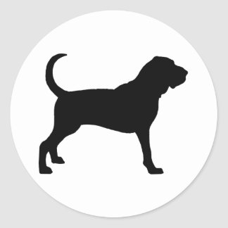 Bloodhound (black) classic round sticker
