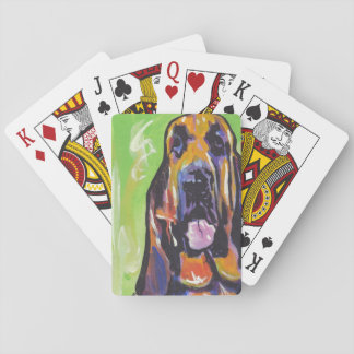 Bloodhound Bright Colorful Pop Dog Art Playing Cards