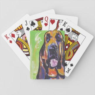 Bloodhound Bright Colorful Pop Dog Art Poker Deck