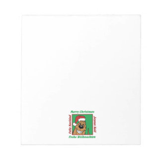 Bloodhound Christmas Notepad