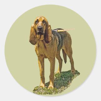 Bloodhound Classic Round Sticker