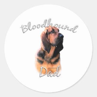 Bloodhound Dad 2 Classic Round Sticker