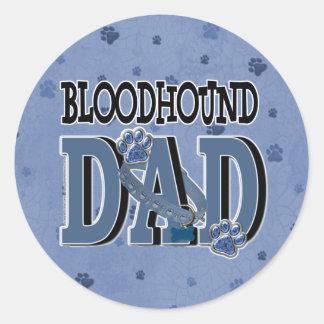 Bloodhound DAD Classic Round Sticker