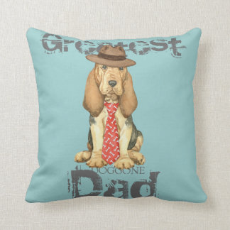 Bloodhound Dad Cushion