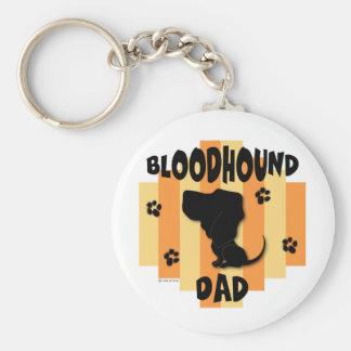 Bloodhound Dad Keychain