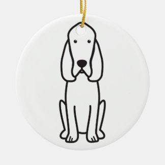 Bloodhound Dog Cartoon Christmas Ornament