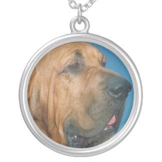 Bloodhound Dog Face Necklace