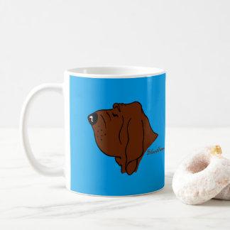 Bloodhound head silhouette coffee mug