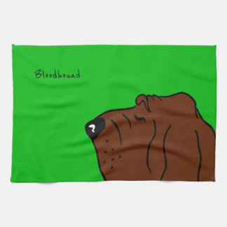 Bloodhound Head Tea Towel