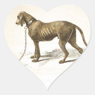 Bloodhound Heart Sticker