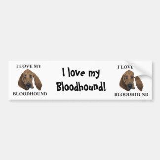 Bloodhound Love Bumper Sticker