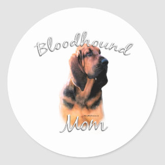 Bloodhound Mom 2 Classic Round Sticker