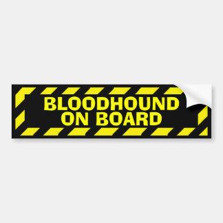 Bloodhound on board yellow caution sticker