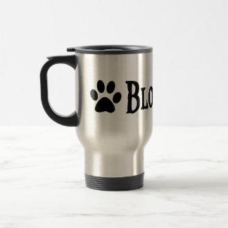 Bloodhound (pirate style w/ pawprint) travel mug