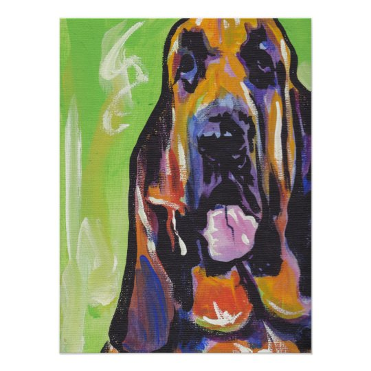 Bloodhound Pop Art Poster Print