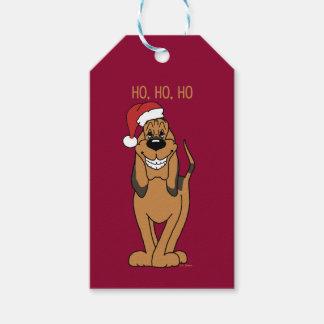 Bloodhound Santa Gift Tags