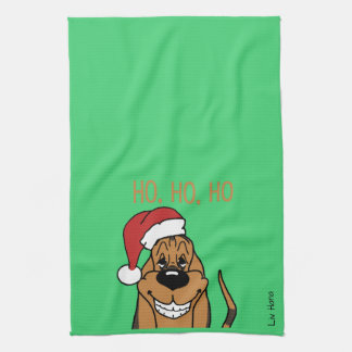 Bloodhound Santa Tea Towel