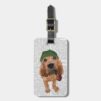 Bloodhound Sherlock Holmes 2 Luggage Tag