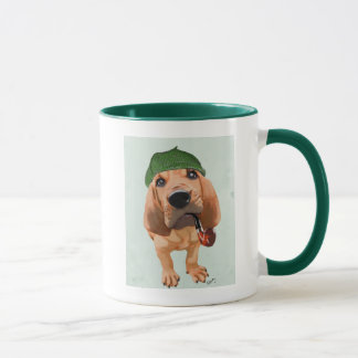 Bloodhound Sherlock Holmes Mug