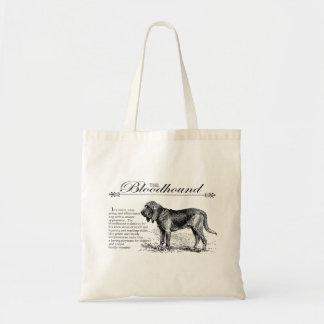Bloodhound Vintage Storybook Style Budget Tote Bag