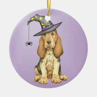 Bloodhound Witch Christmas Ornament