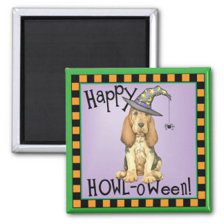 Bloodhound Witch Square Magnet