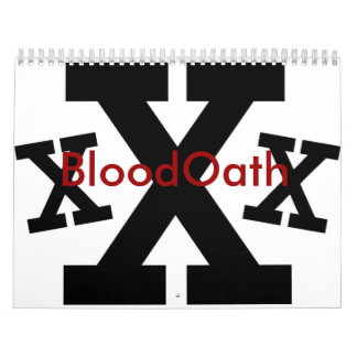 BloodOath Straight Edge Calendar