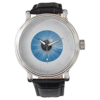 Bloodshot Blue Eyeball Watch