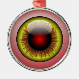 Bloodshot Eyeball Yellow Iris Round Pupil Christmas Ornament