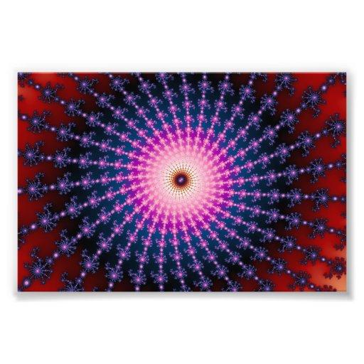 Bloodshot Fractal Swirl Art Photo