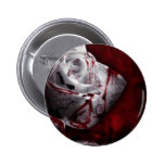 Bloodstained White Rose Pin