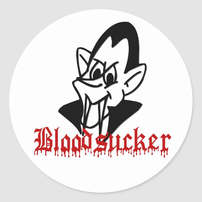 Bloodsucker Vampire Halloween Stickers