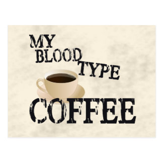 Bloodtype Coffee Postcards