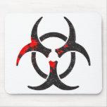 Bloody Biohazard Symbol Mousepads