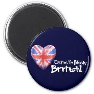 Bloody British 6 Cm Round Magnet