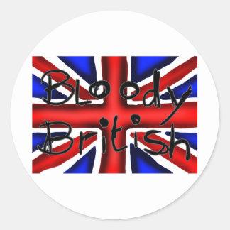Bloody British Round Sticker