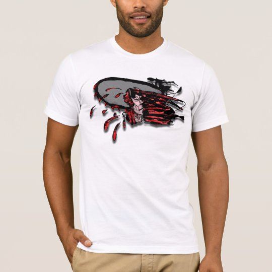 Bloody Chain Saw Through the Head T-Shirt