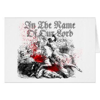 Bloody Crusades Greeting Card