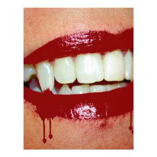 Bloody Fangs Hot Lips Vampire 21.5 Cm X 28 Cm Flyer